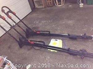 2 Yakima Front loader Roof bike Racks with 4 Lock Cores