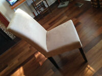 10 Dining Room Chairs/Fabric Covered/Wood Legs