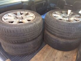 4 x wheels and tyres (from VW Passat 205/60R15)