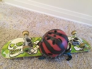 $60, Mint Condition Skateboard, And Helmet