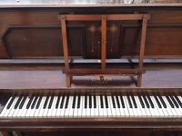 Upright Lister Piano, needs tuning but otherwise good condition, free