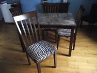 NEW PRICE !!!  Table & Chairs FOR SALE