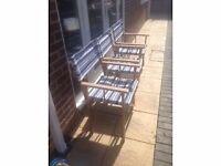 3x Folding garden directors chairs