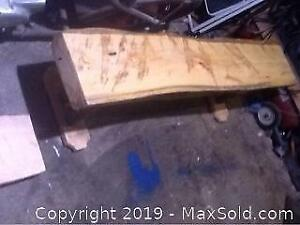 Hand Crafted Hockey Bench