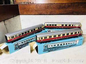 VINTAGE MARKLIN HO SCALE ROLLING STOCK PASSENGER CARS ETC. ALL BOXED