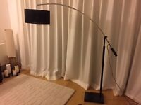 Large floor lamp with marble base - Modern design