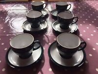 6 Denby Greenwich cups and saucers