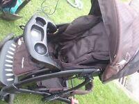 Mothercare Trenton black pushchair folds down VGC (Sherwood NG5)