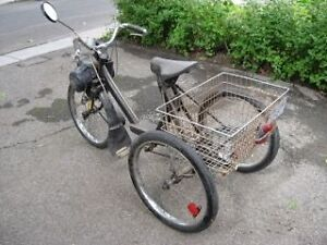 Vintage RARE Solex Motorized 3 Wheeler with Carrier