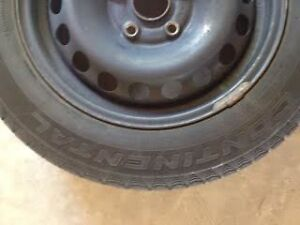Continental Extreme winter contact tires w/ steel rims Cambridge Kitchener Area image 1