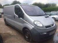 2006 VAUXHALL VIVARO 2900 LWB 1.9 DIESEL TURBO 6 SPEED SPARES AND REPAIRS NON RUNNER