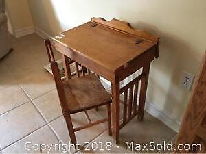 Child School Desk With Chair