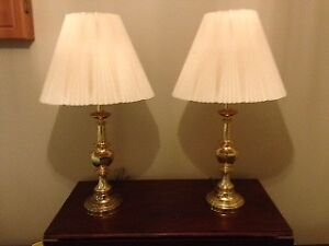 Brass Lacquered Table Lamps