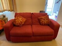 2x 2 seater red sofa's