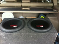 2 15 Inch SSA ICON subs - subwoofers 1250rms each!