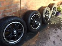 VW T5 T6 Transporter 16in Alloy Wheels and set of winter tyres Calibre Dominator 205 65 R16 C 107/T