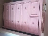 2 X LARGE PINK CHEST OF DRAWS