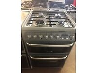 SILVER 60CM HOTPOINT DUEL FUEL GAS COOKER