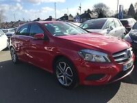 MERCEDES-BENZ A CLASS A180 1.5 CDi BLUEEFFICIENCY SPORT 5dr (red) 2015