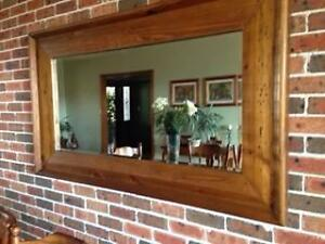 Large Mirror with Wooden Frame Grays Point Sutherland Area Preview
