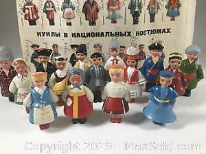 1960s Soviet Figures In Traditional Costume