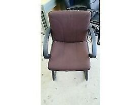 6 X Brown Fabric Ciovered Meeting/ Reception Chairs