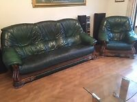 3 piece Leather Sofa - very good condition