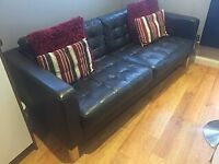 3 seater leather sofa, ideal for conservatory
