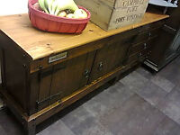 rustic solid pine low sideboard/ tv unit/ fish tank stand