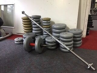 Complete weights with barbell set