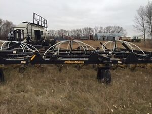 60-12 seedmaster drill with Bourgault 6550 cart.