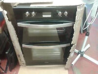 prima double oven, integrated, new ex show, never been used