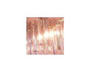 """Vintage GLASS Look ceiling Pendant Lighting GOLD TONED 9.50"""" H"""