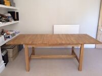 Solid Wood Dining Table, IKEA Norden, extends to 10 diners