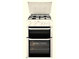 Gas Hob 60cm freestanding - Beko BDVG693WP Gas Cooker with Double Oven 4 burner