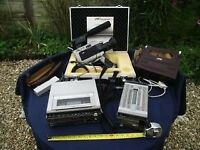 VINTAGE JVC VHS COLOUR VIDEO CAMERA GX88E, PORTABLE VCR, POWER PACK 1981 WORKING ORDER & CAM CASE