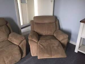 Suede recliner suite Rosewater Port Adelaide Area Preview