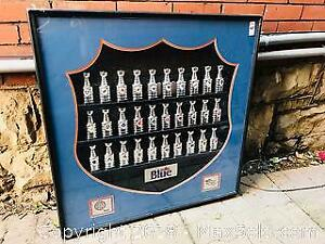 Official NHL Stanley Cup Labatts Blue in Frame