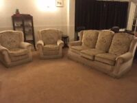 3 Piece, Sofa and 2 Chairs