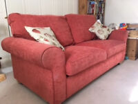 Large 2 seater Sofa Bed - Excellent Condition, with pull out metal frame and mattress