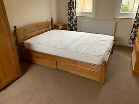 WOODEN DOUBLE BED FOR SALE