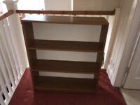 Teak coloured bookcases (chipboard) £10 ono