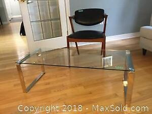 Clean Cut Coffee Table And Side Chair