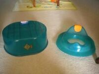 BRAND NEW CHILDRENS FOOT STOOL AND TOILET SEAT FOR SALE