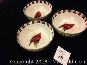 "Lenox ""Winter Greetings"" Collection Serving Bowls (3)"