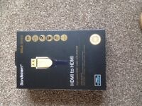 High Speed HDMI to HDMI GOLD 3M cable with ethernet - BRAND NEW IN BOX