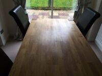 Solid Oak Dining Table with 6 chairs - £350 ONO