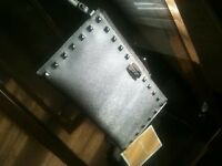 michael kors large purse wallet silver with studs new with labels /reciept /was a gift / no offers