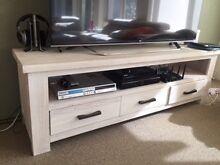 TV Entertainment unit- Solid oak white wash modern Brighton Bayside Area Preview