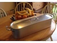 Aluminium fish poaching / steaming pot 71 cm long